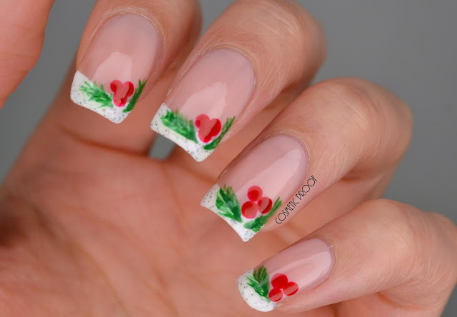 Christmas Holly Nail Art