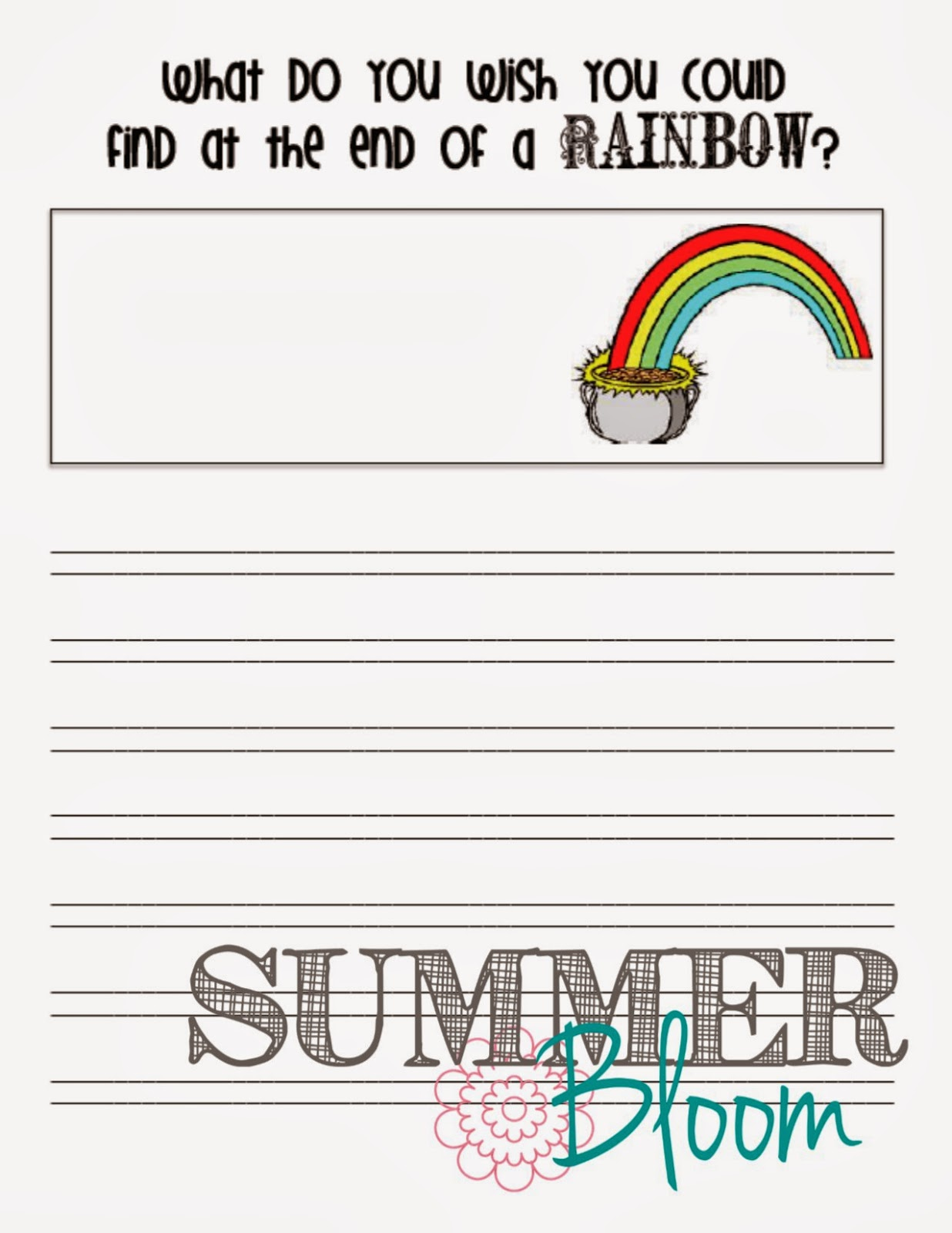 Summer Bloom Teach Create Party St Patrick S Day Writing Freebie