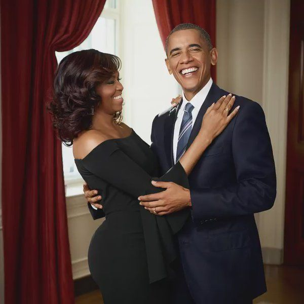 Barak Obama and Michelle In Love