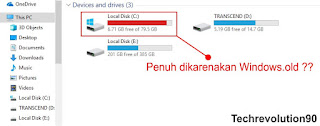 Local Disk C Penuh Akibat Folder Backup Windows.old