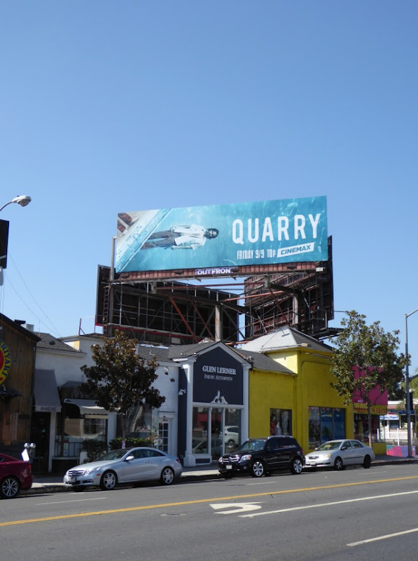 Quarry Cinemax series billboard