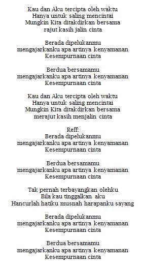 Lirik Lagu Rizky Febian Kesempurnaan Cinta