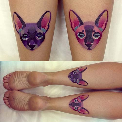 kedi dövmeleri cat tattoos 33