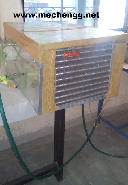 modified air cooler with spilt cooling