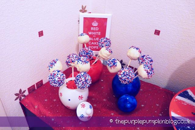 Red, White & Blue Cake Pops