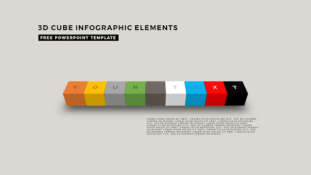 3D Cube Infographic Elements for Free PowerPoint Template Design Slide 6