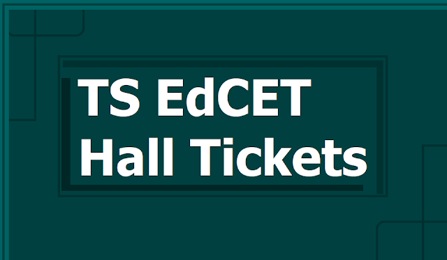 TS EdCET Hall Tickets, Entrance exam dates 2019