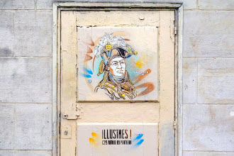 Sunday Street Art : C215 - Toussaint Louverture - Illustres ! Autour du Panthéon - rue Descartes - Paris 5