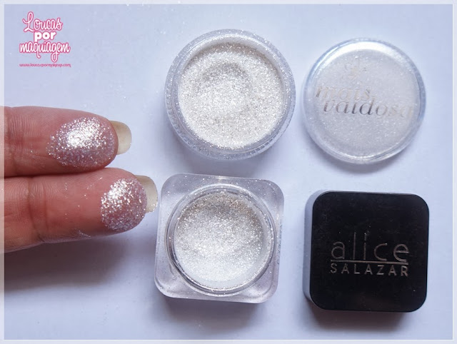 Comparação: Glitter Brilhe Alice Salazar X Glitter Cristal Mais Vaidosa