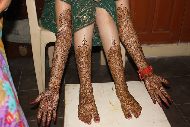 Bridal Mehandi Designs for Hands and Legs 4