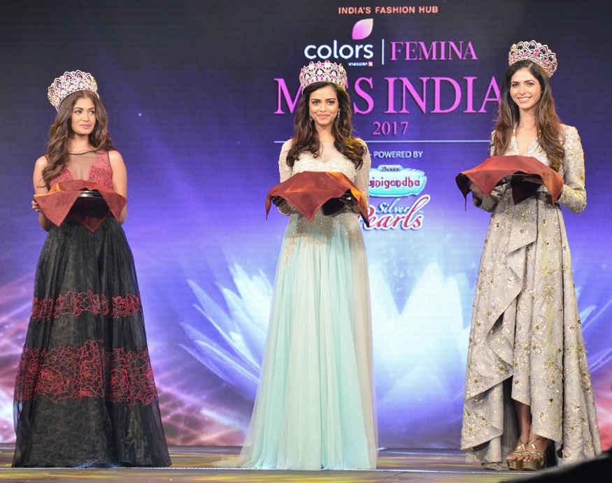 Neha Dhupia with Femina Miss India 2017 at Sahar Star In Mumbai