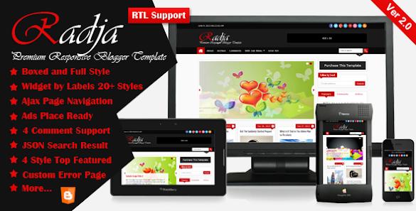 download Radja - Responsive Blogger Template gratis