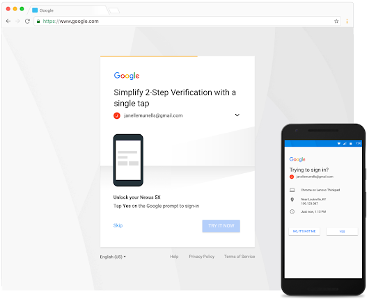 Better experience for SMS 2-Step Verification users with Google prompt