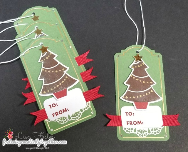 Christmas Gift Tags, Project kit, Christmas wrapping, stampin' up!
