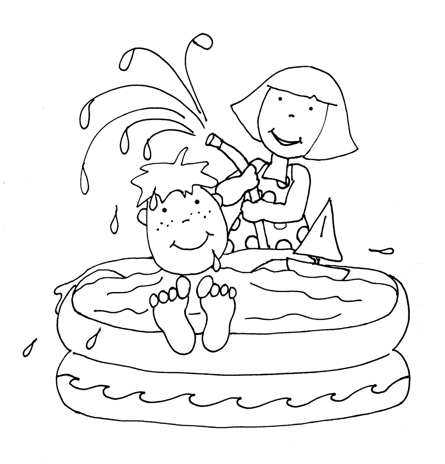 Free Dearie Dolls Digi Stamps: Pool Fun