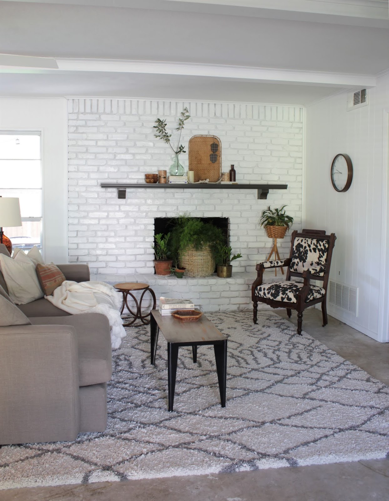 Painted brick fireplace with HomeRight | House Homemade