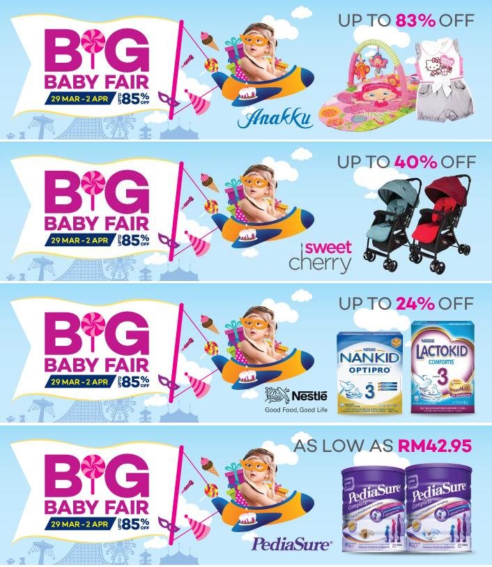 Jualan Big Baby Fair - Diskaun 80% Pelbagai Jenama Terkemuka