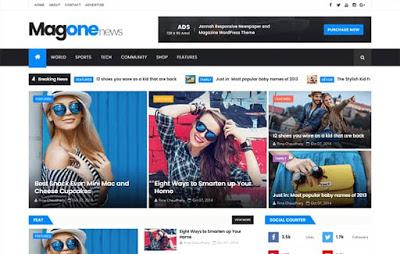 MagOne Responsive Blogger Template | Premium