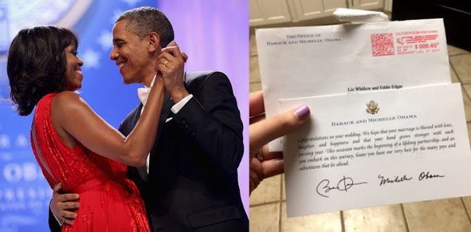 The Obamas Send Newlywed Couple a Moving Note of Congratulations