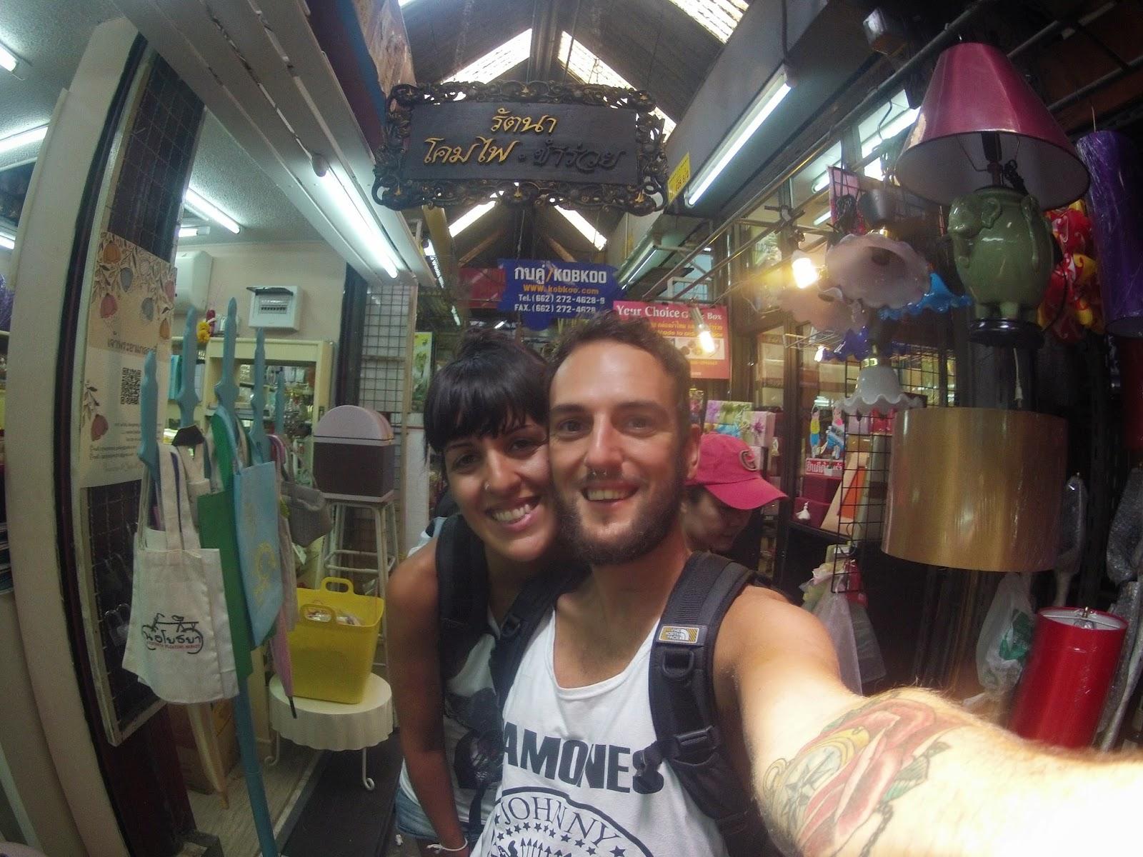 Selfie en Chatuchak Market
