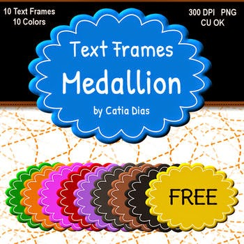 Free Medallion - Text Frames by Catia Dias