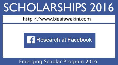 Emerging Scholar Program 2016
