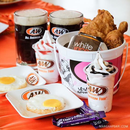 Marga Apsari - Blog: [NEW] A&W Restoran Peanut Butter Almond Magic & BFF Rooty Barrel
