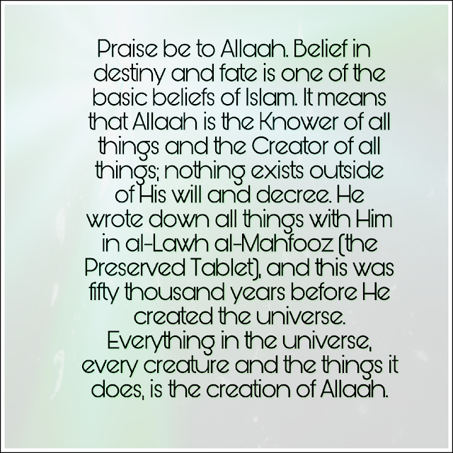 allah answer creation