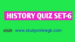 General knowledge History quiz  objective questions