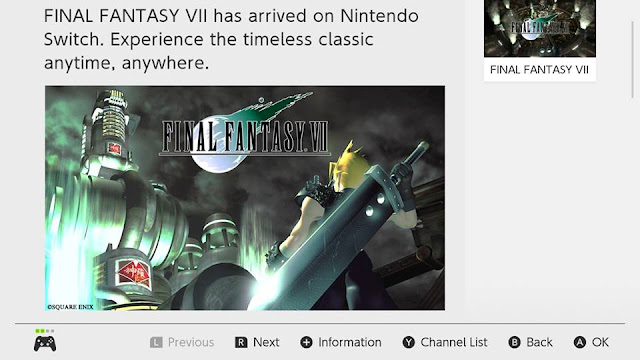 Nintendo News Switch FINAL FANTASY VII now available