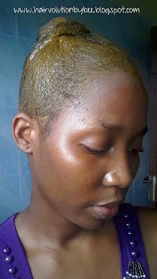 Henna hair dye application