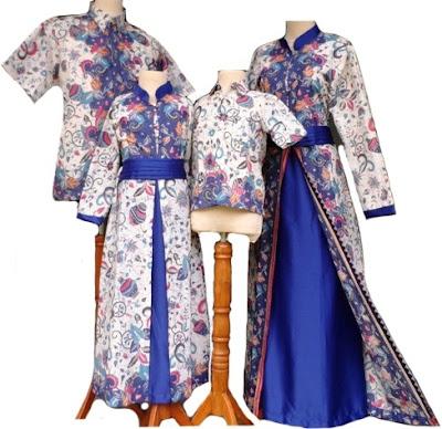 Baju Batik Pesta Couple Keluarga Modern