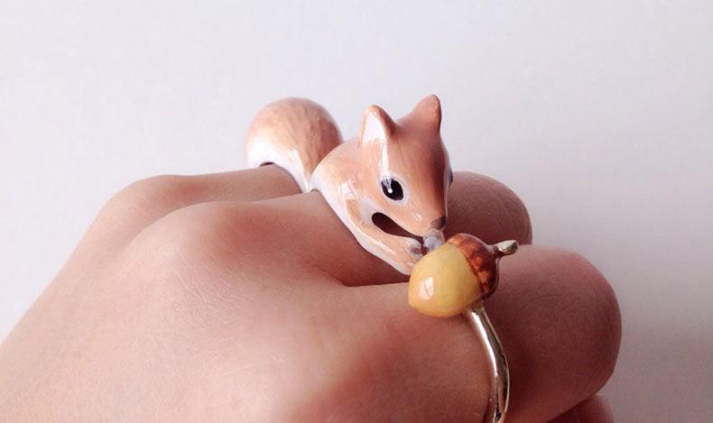 Lindos anillos que se convierten en animales cuando 3 piezas se juntan