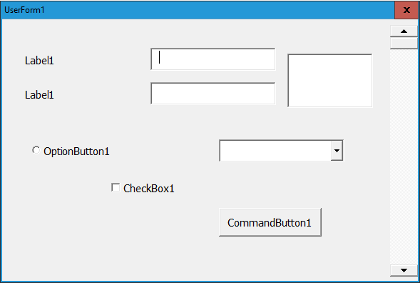 Excel-VBA Solutions: Loop Through All the Controls of a VBA