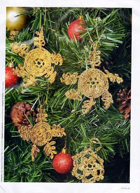 Ornamentos de Crochet para el Arbol de Navidad