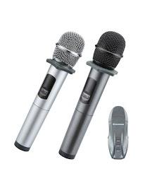 Micro Karaoke Không Dây Excelvan K18-U ( Micro đôi + bộ phát )