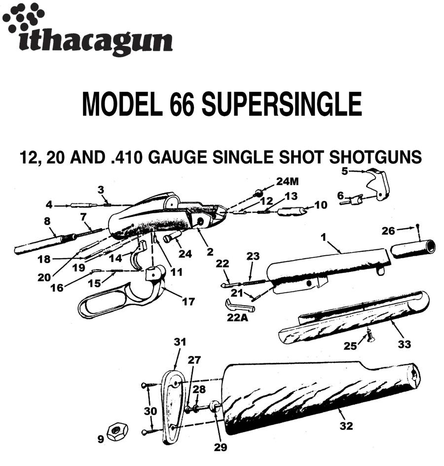 Akbar S Armory Ithaca Model M 66 12 Gauge Shotgun