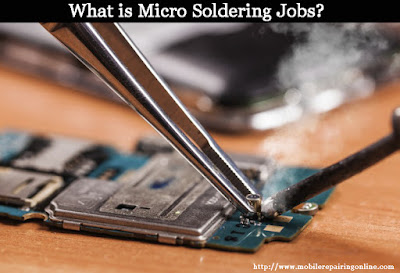 microscope initial examination for doing small components micro soldering repair jobs
