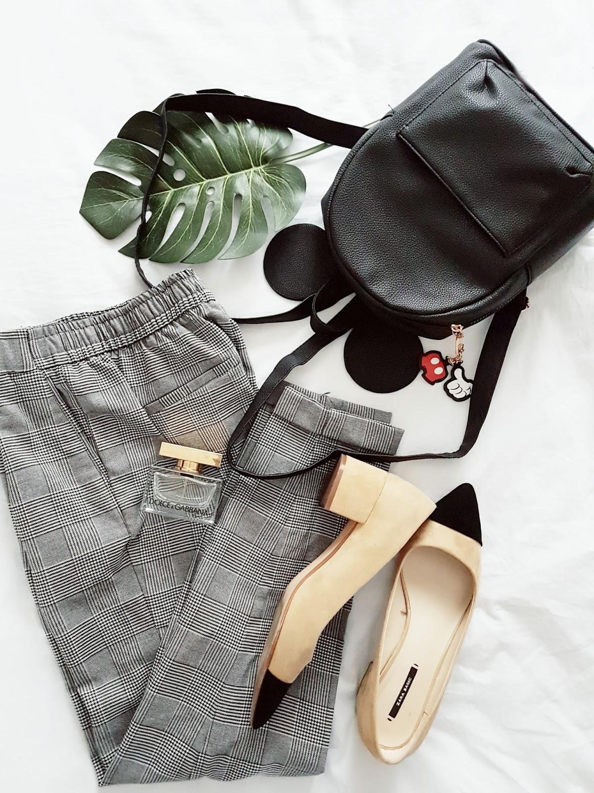 Check trousers i strój dnia