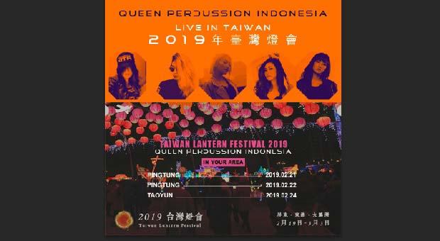 Queen Percussion Indonesia Akan Tampil di 2019 Taiwan Lantern Festival
