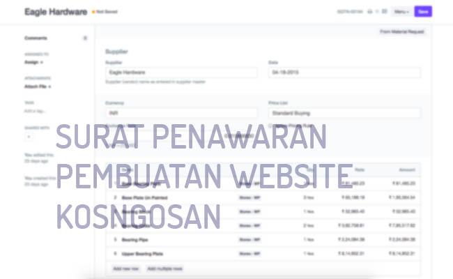 surat penawaran website