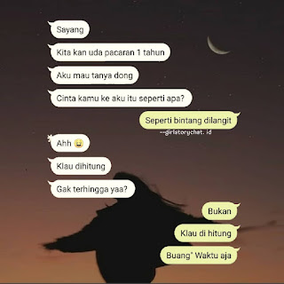 chat wa lucu sama pacar