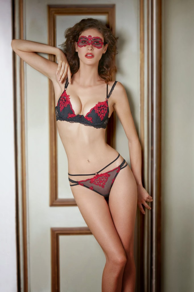 Maud Le Fort in lingerie photoshoot for french brand Lise Charmel