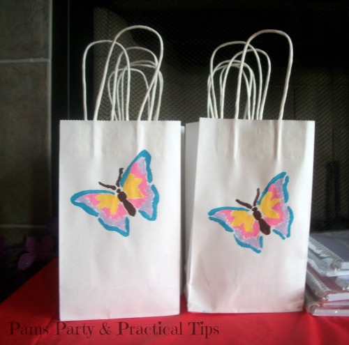 Painted Butterfly Goodie Bags