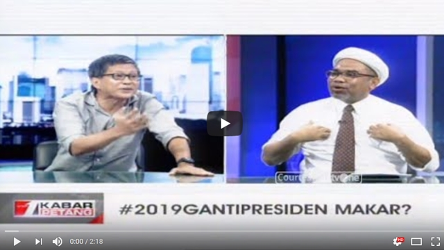 Adu Logika Ngabalin Vs Rocky Gerung soal #2019GantiPresiden