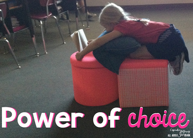 There is power in giving your students a choice in what they read and where they read! This can help them show ownership of their reading, and take pride in it!