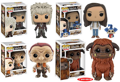 Labyrinth Pop! Movies Series by Funko - Jareth, the Goblin King, Sarah with Worm, Hoggle and Ludo