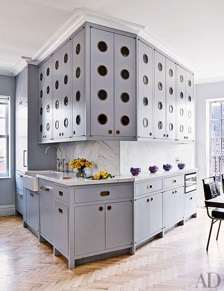 muebles de cocina con diseño de agujeros chicanddeco