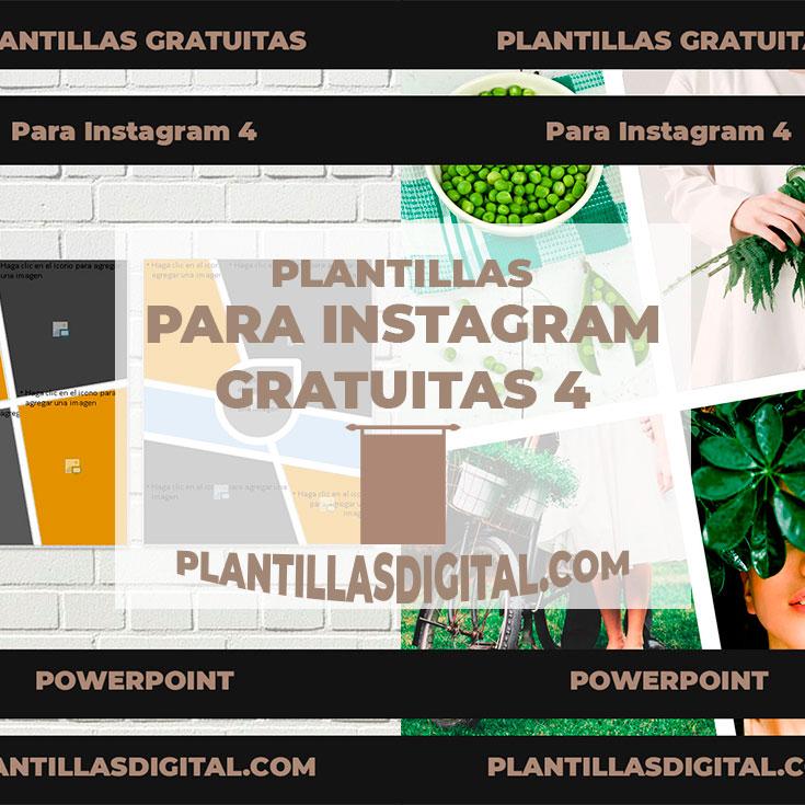 plantillas para instagram gratuitas 4 post
