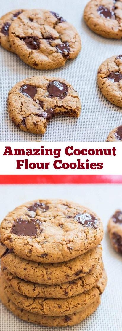 Amazing Coconut Flour Cookies | recipes cookies | recipes chocolate | recipes gluten free | recipes paleo | recipes vegan | recipes dessert #amazing #coconut #flour #cookies #vegancookies #dessert